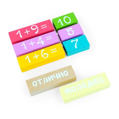 Набор логический игровой учимся играя считаем 30 деталей Томик 1-86