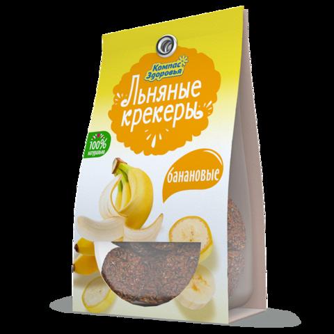Крекеры льняные с бананом, 50 гр. (Компас Здоровья)