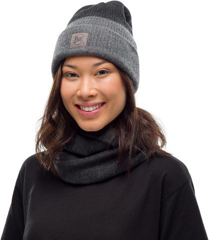 Вязаный шарф-хомут Buff Neckwear Knitted Infinity Yulia Graphite фото 2