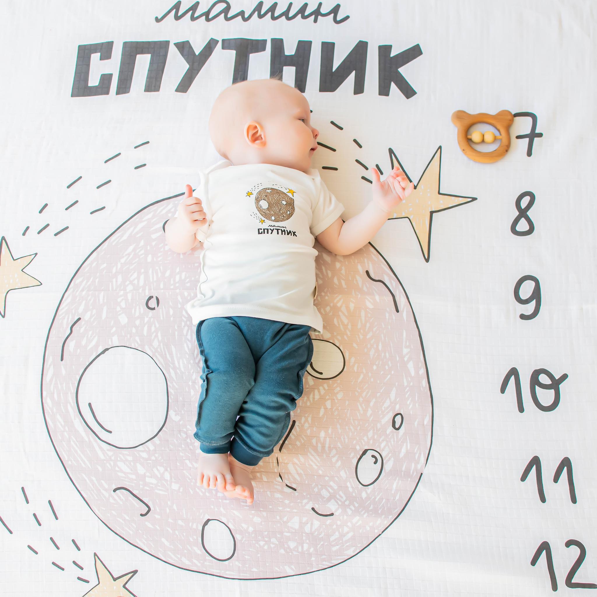 Printed T-shirt 0+, Mom's Satellite