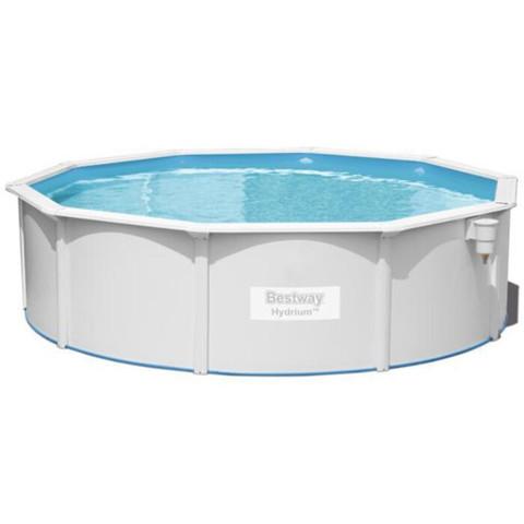 Сборный круглый бассейн Bestway Hydrium 56384 (460х120 см) с песочным фильтром, лестницей и тентом / 15834