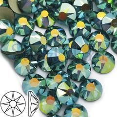 Стразы 8+8 Xirius 8 больших и 8 маленьких граней Malachite AB Малахит АБ