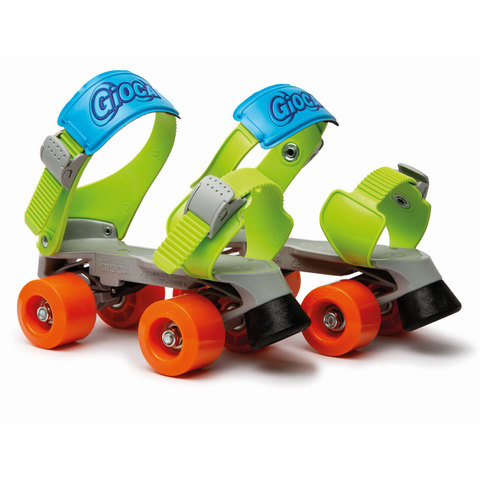 ItalTrike. Ролики-квады Gioca MiniJet, зелёные
