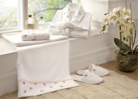 Набор халат с полотенцами PICCOLO женский розовый
