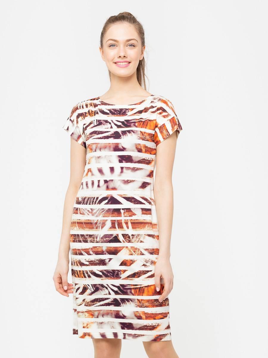 Платье З205-223 - Трикотажное платье облегающего силуэта и цельнокроеным рукавом. Приятная на ощупь, комфортная ткань для повседневной носки. Эта модель станет неотъемлемой частью летнего, повседневного гардероба.