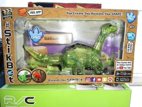 Стикбот динозавр бронтозавр зеленый