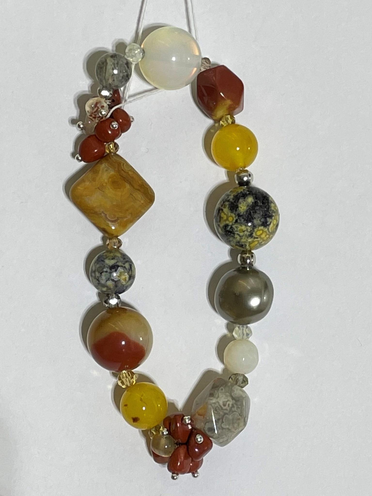 8008-яшма (браслет из натуральных камней)