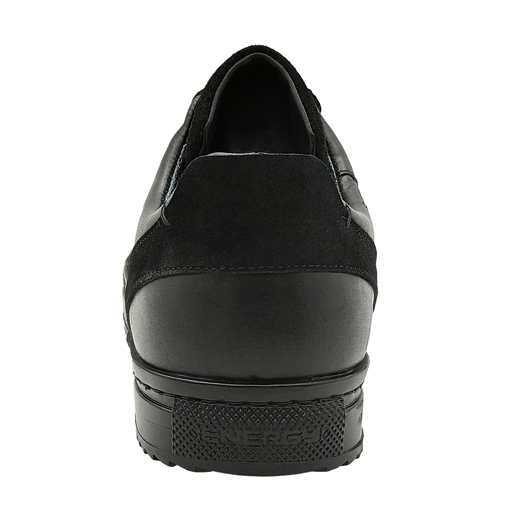 752308 Полуботинки мужские черные больших размеров марки Делфино