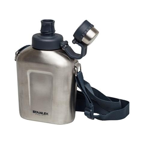 Картинка фляга туристическая Stanley Adventure 1L flask сталь - 4