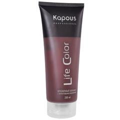 KAPOUS бальзам оттеночный для волос life color темный баклажан 200мл.