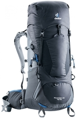Deuter Aircontact Lite 40+10 Black-Graphite - рюкзак туристический
