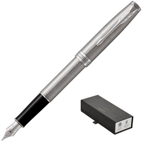 Ручка перьевая Parker Sonnet цвет чернил черный цвет корпуса серебристый (артикул производителя 1931509)