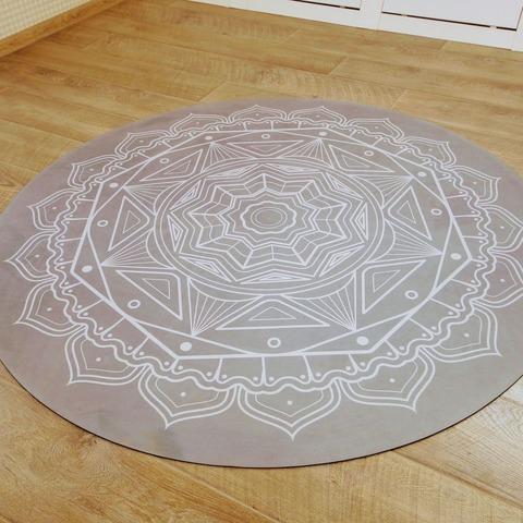 Коврик для йоги и медитации Дым из замши и каучука 140*140 см