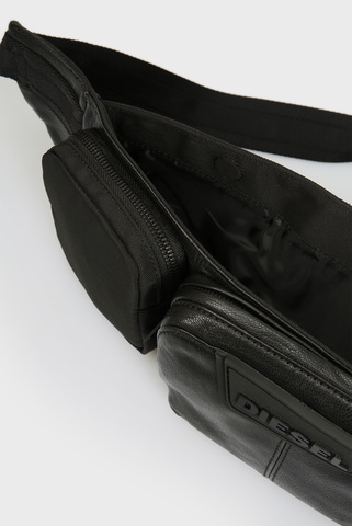 Мужская черная поясная сумка IURBAN Diesel
