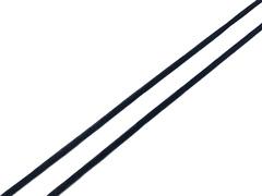 Резинка отделочная черная 4 мм Lauma