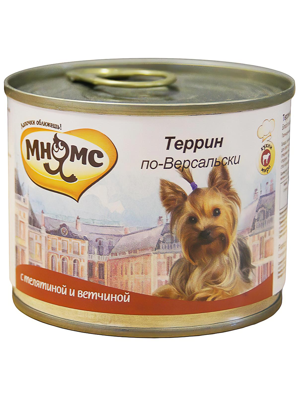 Мнямс Консервы для собак Мнямс Террин по-Версальски (телятина с ветчиной) 57655_1.jpg