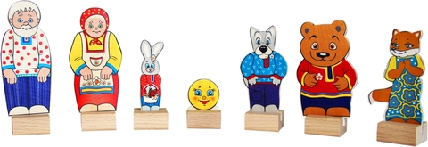 Краснокамская игрушка набор персонажи сказки Колобок