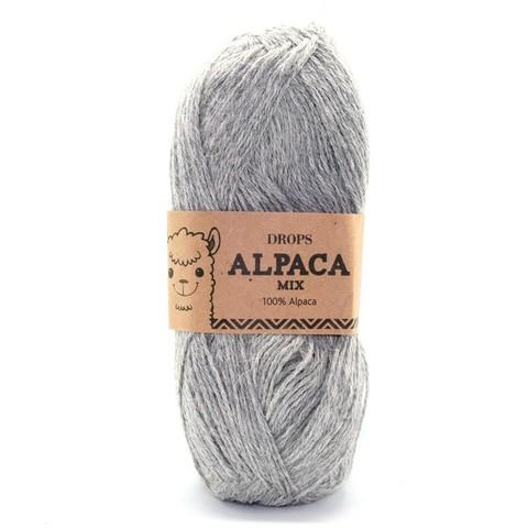 Пряжа Drops Alpaca 0501 светло-серый меланж