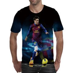 Футболка 3D принт, Лионель Месси (3Д Messi) 07