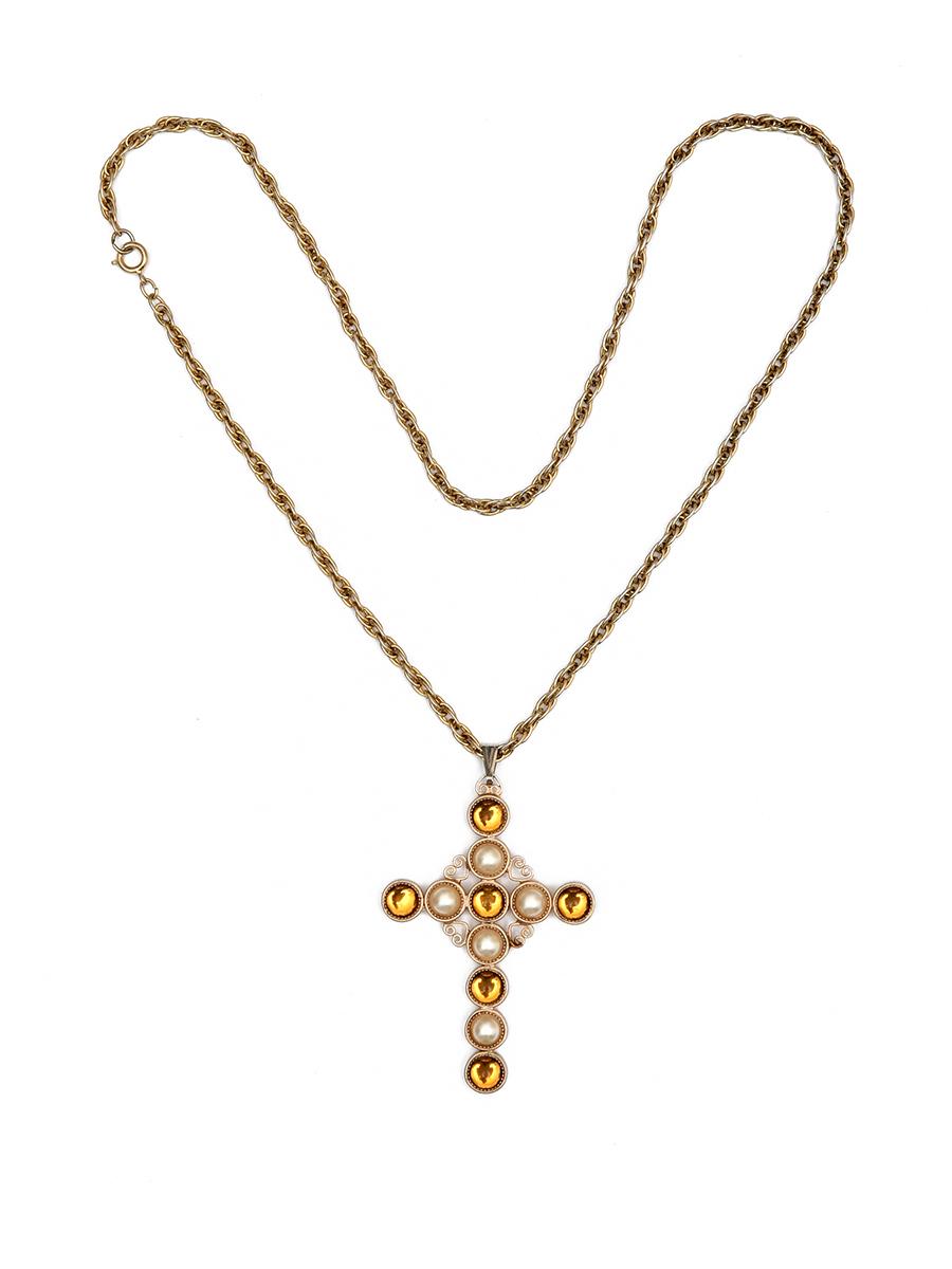 Кулон на цепи «Крест» Hobe