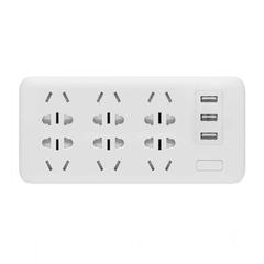 Удлинитель Xiaomi Mi Power Strip Sockets 6 USB 3 Белый