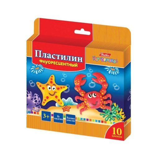 Пластилин HATBER Морская семейка 10 цв восоковй РОССИЯ