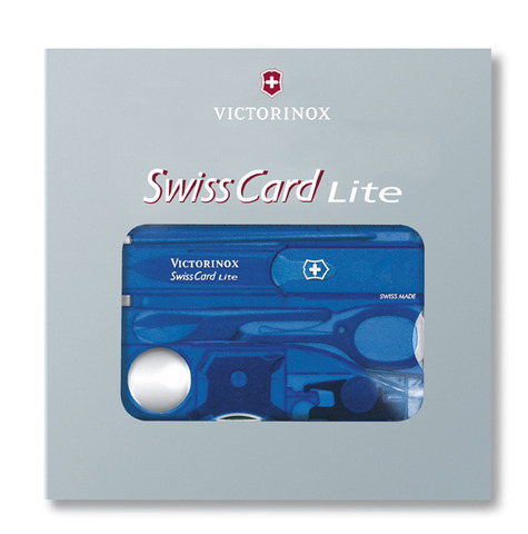 Швейцарская карточка Victorinox SwissCard Lite, синяя