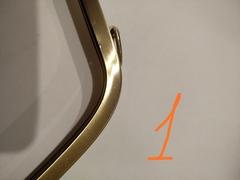 Фермуар (рамочный замок) трапеция 27.5 см.  под антик, УЦЕНКА