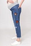 Джинсы для беременных (BOYFRIEND) 09698 синий