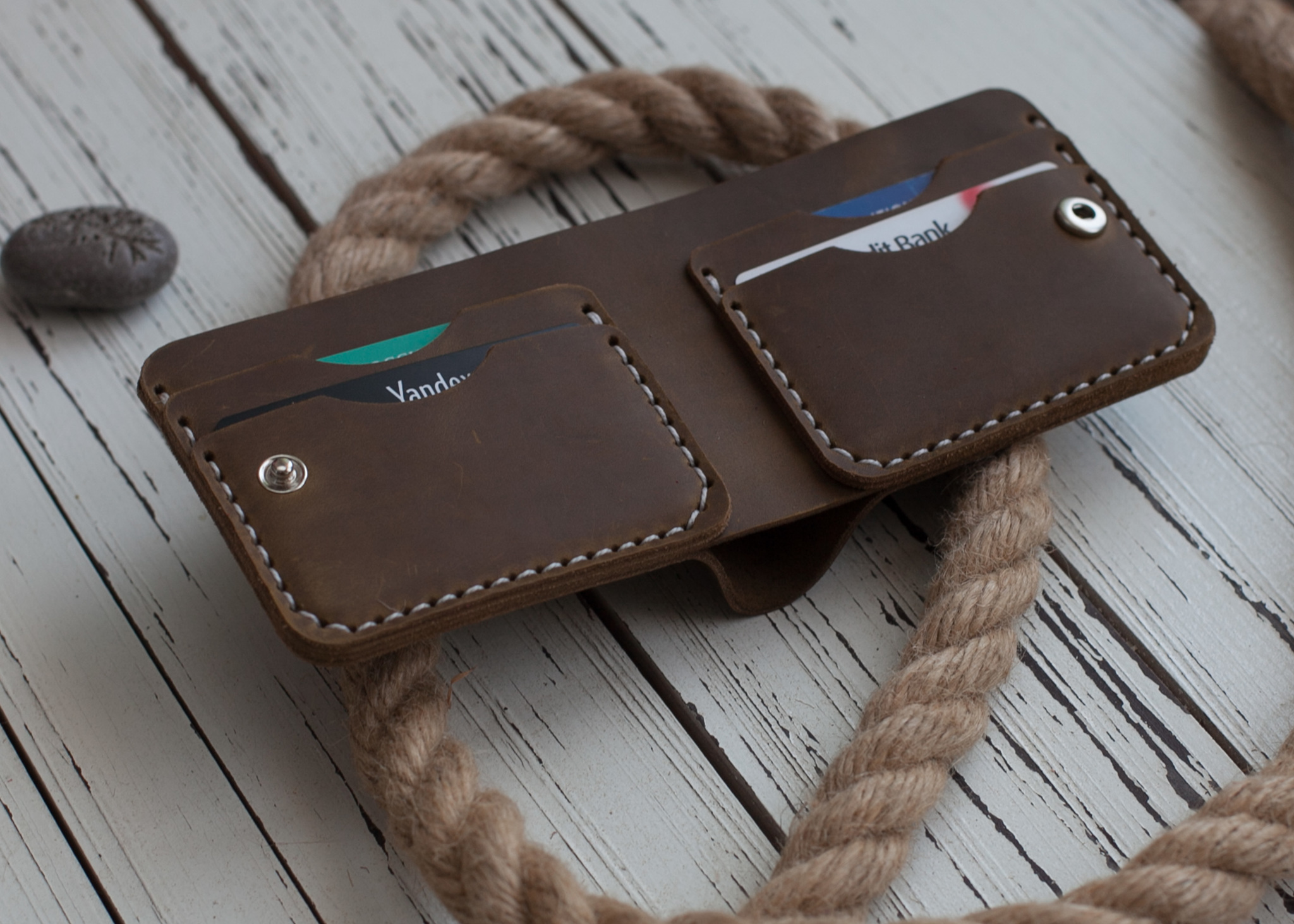 Бумажник двойного сложения