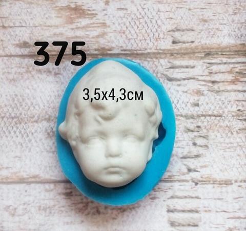 0375 Молд Голова (лицо) детская кудрявая