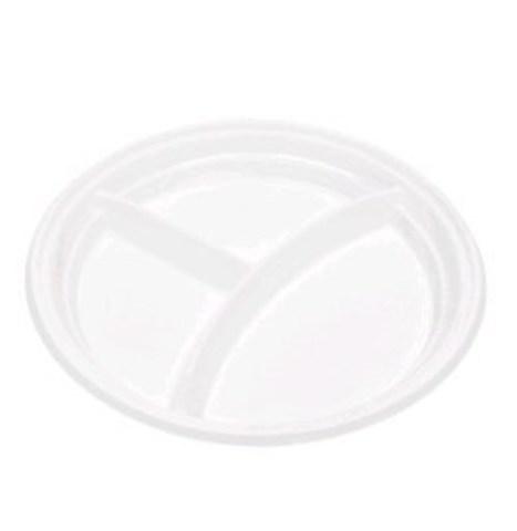 Тарелка одноразовая пластиковая 3-х секц. А СтП D=205 мм