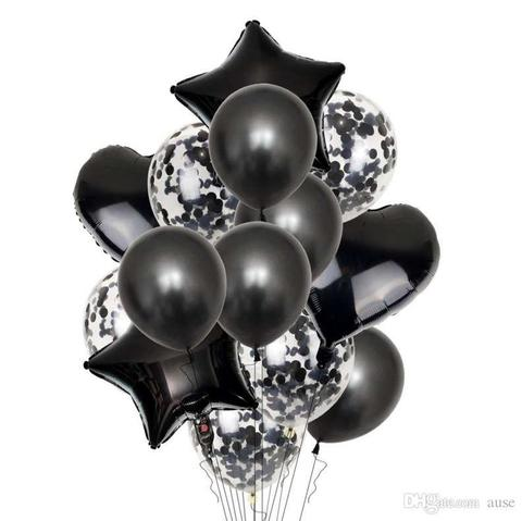 Букет воздушных шаров Цвет настроения черный