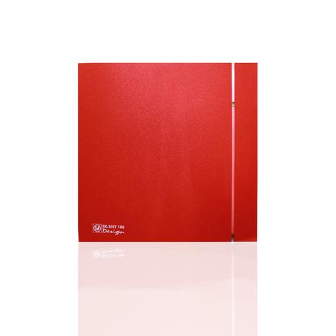 Накладной вентилятор Soler & Palau SILENT-100 CRZ DESIGN-4С RED  (таймер)