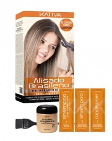 Набор для кератинового выпрямления и восстановления волос с маслом Арганы KERATINA, Kativa