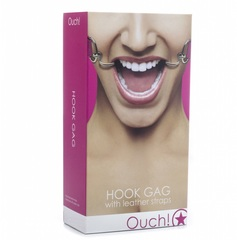 Розовый расширяющий кляп Hook Gag