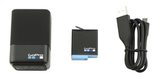 Зарядное устройство для двух аккумуляторных батарей GoPro HERO6/7/8 Dual Battery Charger + Battery (AJDBD-001-EU) комплектация