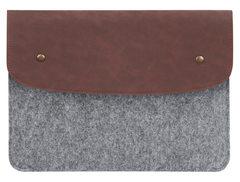 Коричневый чехол-конверт Gmakin для Macbook с элементами кожи