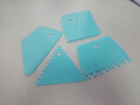 Набор скребков фигурных-3, пластик (4 шт.)