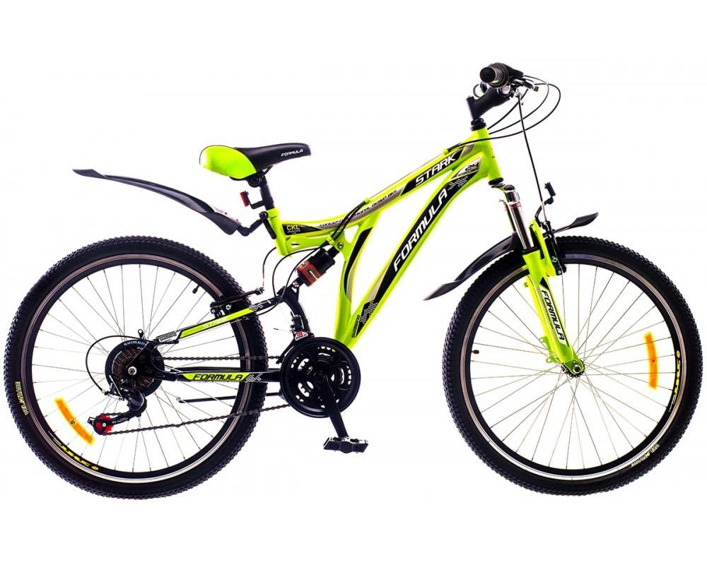 Горный универсальный подростковый велосипед Formula Stark 2015 - желто-черный