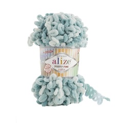 Пряжа Alize Puffy Fine Color цвет 6064