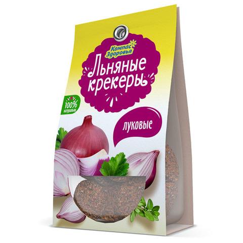 Крекеры льняные с луком, 50 гр. (Компас Здоровья)