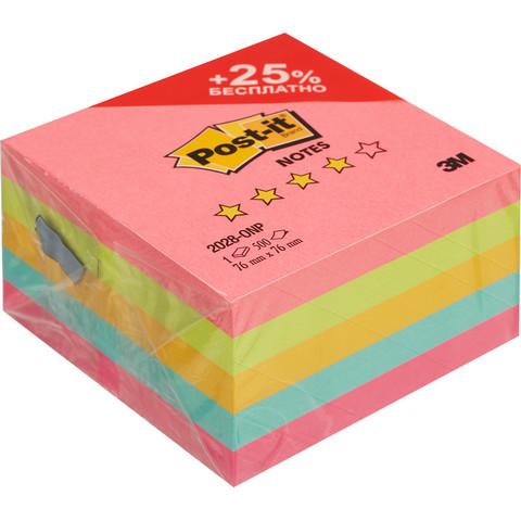 Стикеры Post-it Original Лето 76x76 мм неоновые 5 цветов (1 блок, 500 листов)