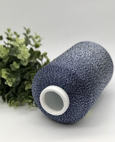 Вискоза с  люрексом KOS  TORNADO 2350 сине-серый с серебром (эффект мулине)