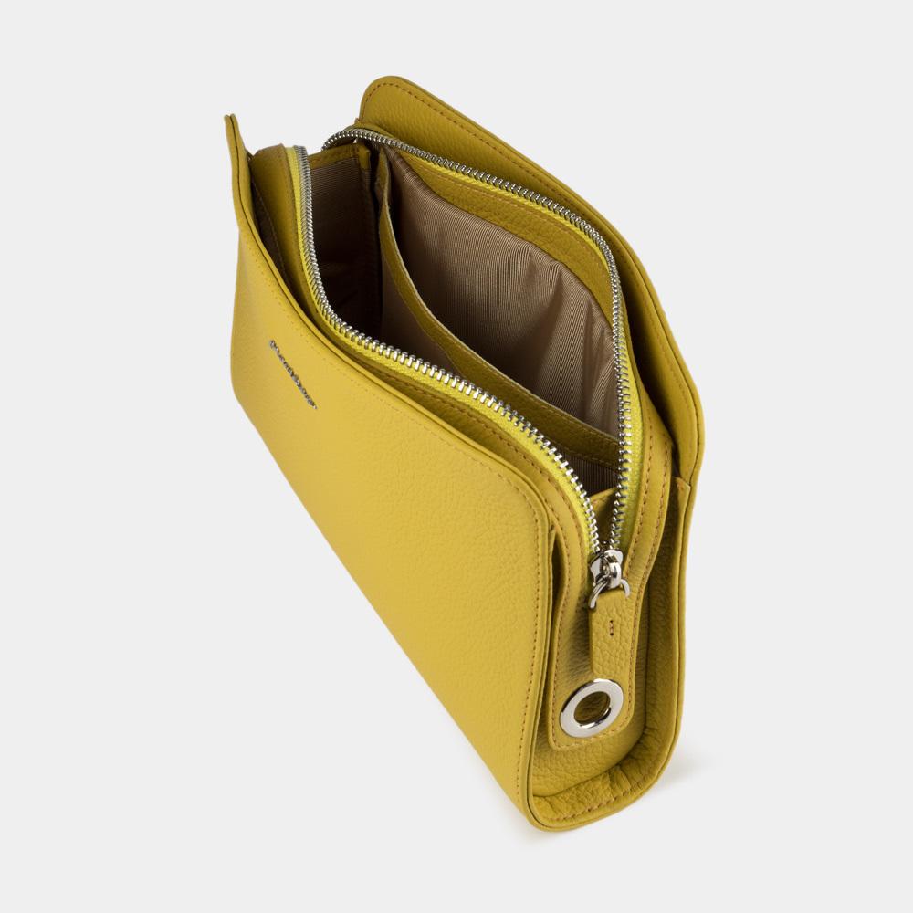 Женская сумка Emilie Easy из натуральной кожи теленка, желтого цвета