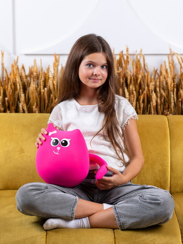 Мягкая игрушка-подушка Gekoko «Кошечка Мини Коралл» 3