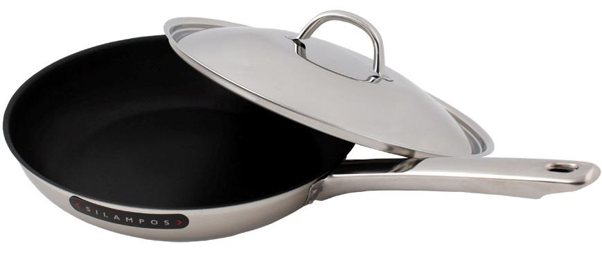 Сковорода антипригарная 24 см с крышкой ЕВРОПА, артикул 63212BBM5624A, производитель - Silampos
