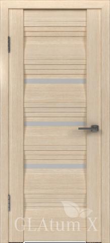 Дверь GreenLine X-31 Atum, стекло белое, цвет капучино, остекленная