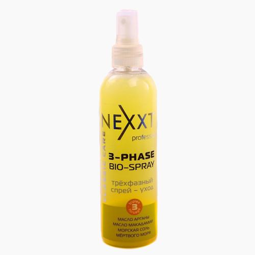 Трехфазный спрей-уход: питание, защита, дыхание волос, NEXXT, 250 мл