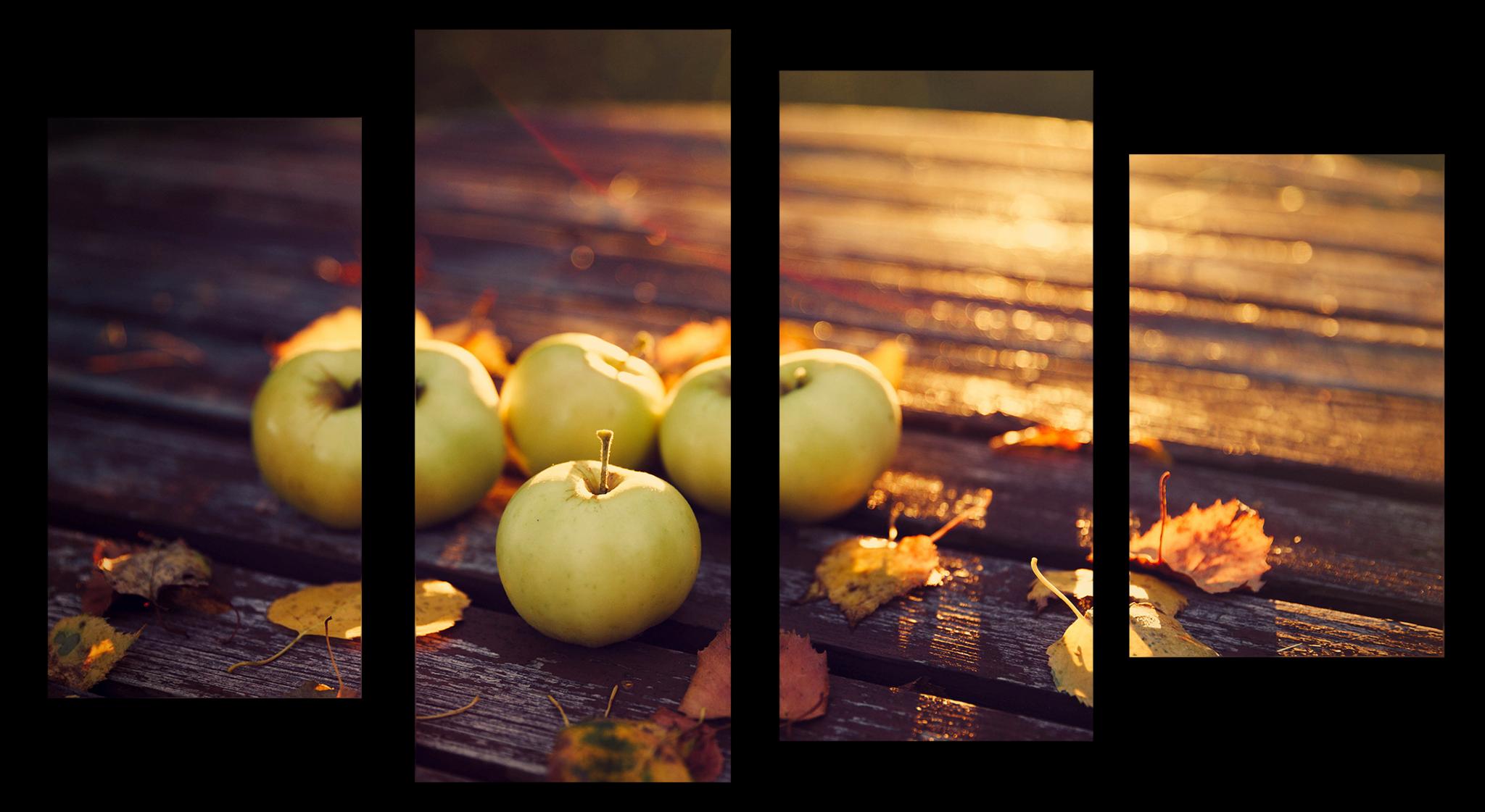 "Еда Модульная картина ""Осенние яблоки"" М1098_M_загибы_90х54.png"